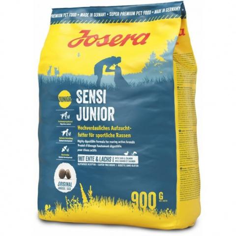 Корм для щенков - Josera Sensi Junior, с уткой и лососем, 900 г title=