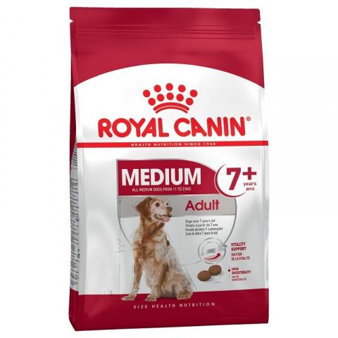 Barība suņiem senioriem - Royal Canin Medium adult 7+, 15 kg title=