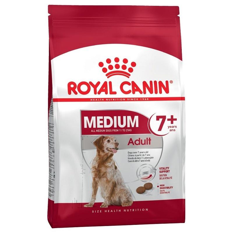 Barība suņiem senioriem - Royal Canin Medium adult 7+,  4 kg