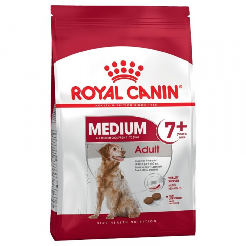 Корм для собак сеньоров - Royal Canin Medium adult 7+,  4 кг