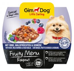 Konservi suņiem - GimDog Little Darling Fruity Menu, liellops, meža ogas, dārzeņi, 100 g