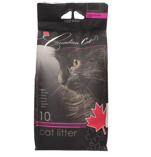 Smiltis kaķu tualetei - Canadian Cat Baby Powder, 10 L