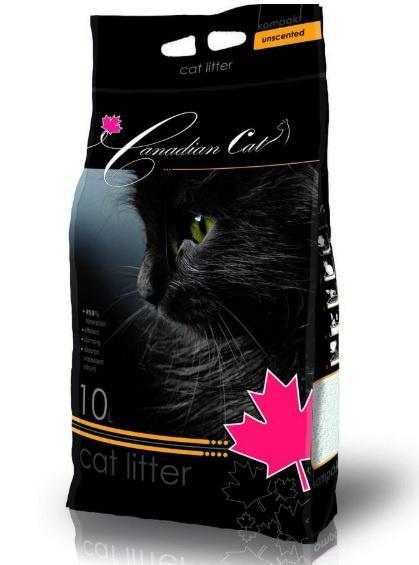 Песок для кошачьего туалета -  Canadian Cat Unscented, 10 L
