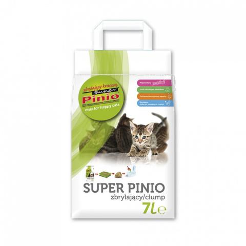 Koka pakaiši kaķu tualetei - Super Pinio Kruszon Natural 7 L title=