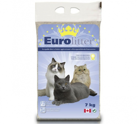 Cementējošās smiltis kaķu tualetei - Euro Litter, 7 kg title=