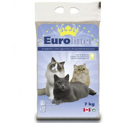 Smiltis kaķu tualetei - Euro Litter, 7 kg