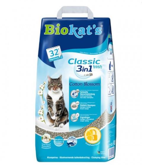 Песок для кошачьего туалета - Biokats Cotton blossom flavor, 5 кг title=