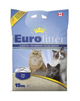 Cementējošās smiltis kaķu tualetei - Euro Litter, 15 kg