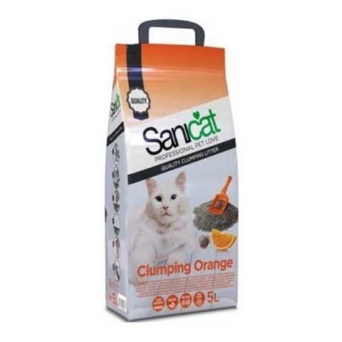 Smiltis kaķu tualetei - Sanicat Clumping, Orange, 5L