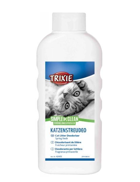 Dezodorants kaķu tualetei - Trixie, Fresh'n'Easy Cat Litter Deodorizer, Spring Fresh, 750 g title=