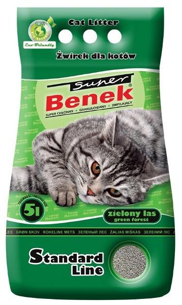 Цементирующий песок для кошачьего туалета - Super Benek Forest, 5 л title=