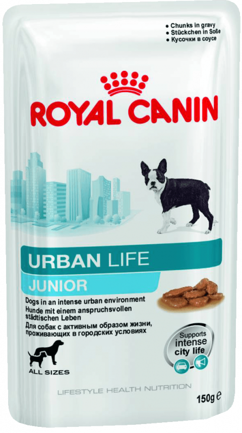 Konservi kucēniem - Royal Canin Urban Life Junior, 150 g