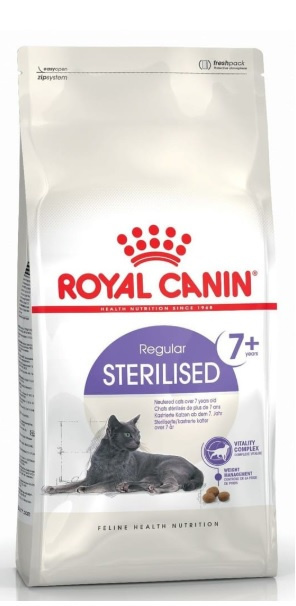 Barība kaķiem - Royal Canin Feline Sterilised +7, 1.5 kg