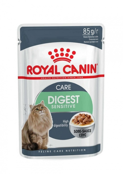 Konservi kaķiem - Royal Canin Feline Digest Sensitive (mērcē), 85 g