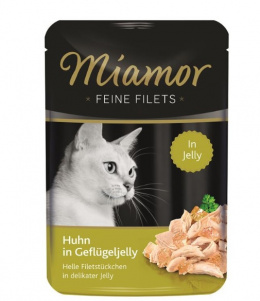 Konservi kaķiem - Miamor Feine Filet Chicken in Poultry Jelly, 100 g