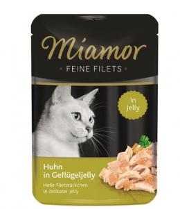 Konservi kaķiem - Miamor Feine Filet Chicken in Poultry, želejā, 100 g