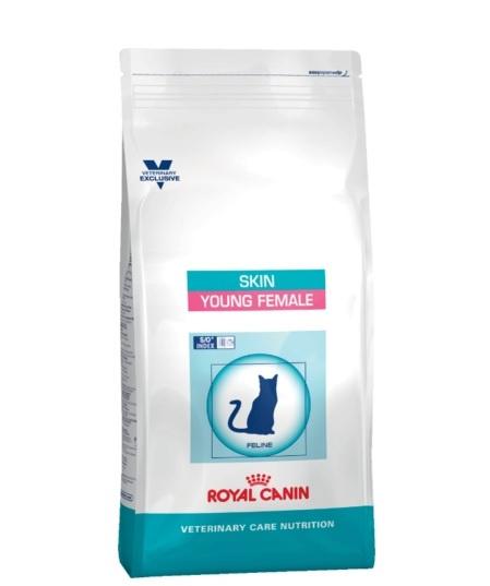 Veterinārā barība kaķiem - Royal Canin Veterinary Diet Feline Skin Neutered Young Female, 1.5 kg