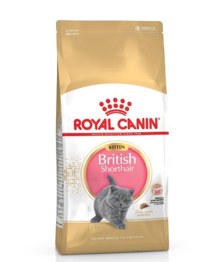 Корм для котят - Royal Canin Feline Kitten British Shorthair, 0,4 кг title=