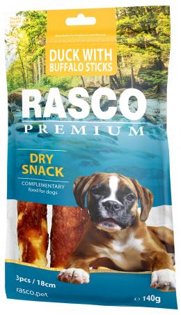 Gardums suņiem - Rasco Premium Rawhide Duck with Buffalo Sticks, 140 g
