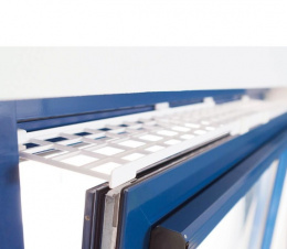 Aizsargreste logu augšējai daļai – TRIXIE Protective Grille for Windows, top/bottom, 75–125 x 16 cm, White