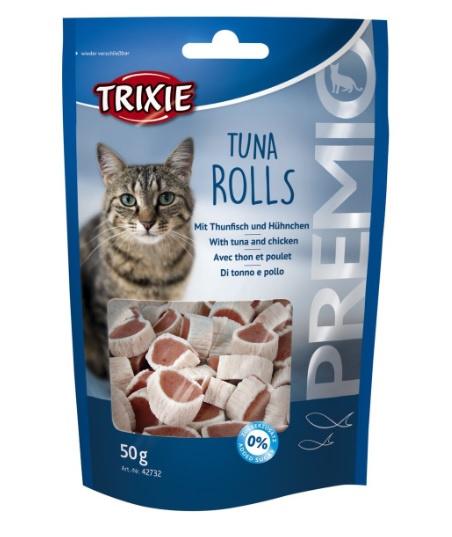 Лакомство для кошек - TRIXIE PREMIO Tuna Rolls, 50 г title=