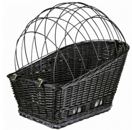 Velosipēda grozs dzīvnieku transportēšanai - TRIXIE Bicycle Basket, Black, 35 x 49 x 55 cm