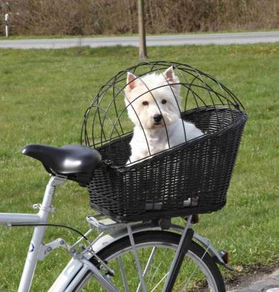 Velosipēda grozs dzīvnieku transportēšanai - TRIXIE Bicycle Basket, 35*49*55 cm