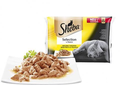 Консервы для кошек - Sheba Duett 4-pack, кусочки с птицей, 340 г