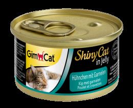 Konservi kaķiem - GimCat ShinyCat Chicken and Shrimps, 70 g