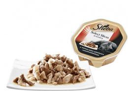 Konservi kaķiem - Sheba Tray Beef in Gravy, 85 g