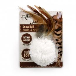 Мячик для кошек - AFP Lambswool - Snow Ball Catnip