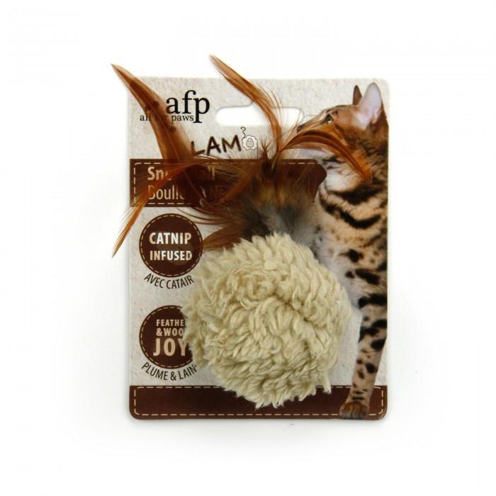 Bumbiņa kaķiem - AFP Lambswool - Snow Ball Catnip
