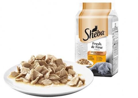 Konservi kaķiem - Sheba Fresh & Fine ar mājputnu gaļu mērcē, 6*50 g