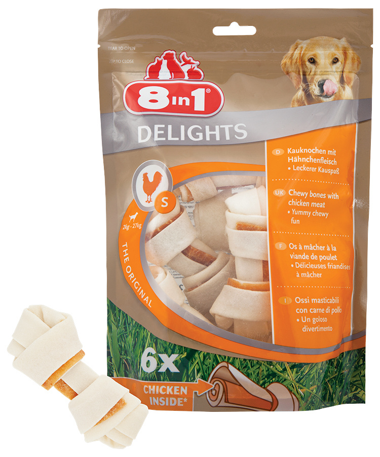Лакомство для собак - 8in1 Delights bag S, 6 шт.