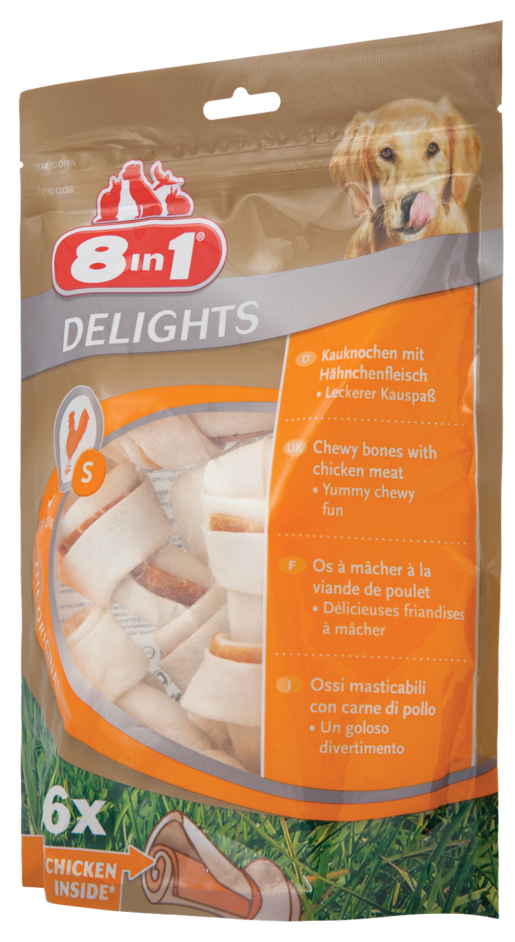 Gardums suņiem - 8in1 Delights S bones, 6 gb