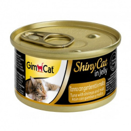 Konservi kaķiem - Gimpet ShinyCat Tuna, Shrimps and Malt, 70 g
