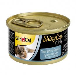 Konservi kaķiem - GimCat ShinyCat Tuna and Shrimp, 70 g