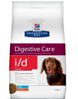 Veterināra barība suņiem - Hills Canine i/d stress mini, 1,5 kg