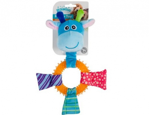 Rotaļlieta kucēniem - Pawise TPR Ring žirafe