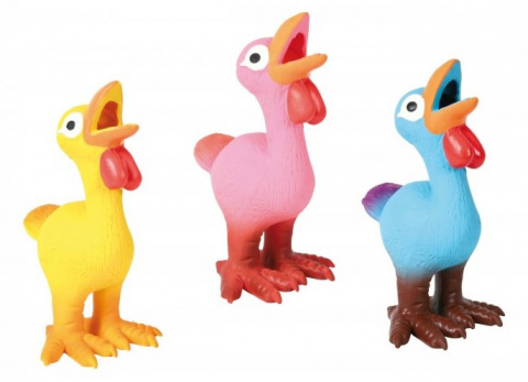 Rotaļlieta suņiem – TRIXIE Assortment Hens, Latex, 14 cm title=