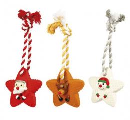 Игрушка для собак - Trixie звезда на веревке, 33 cм