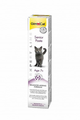 Barības piedeva kaķiem - Gim Cat Expert Line Senior Paste, 50 g