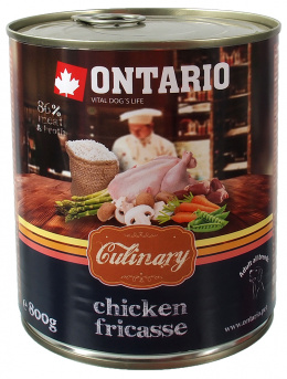 Консервы для собак - Ontario Culinary Chicken Fricasse, 800 г