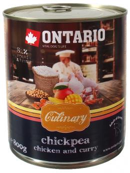 Konservi suņiem - Ontario Culinary Chickpea, Vista un Karijs, 800g