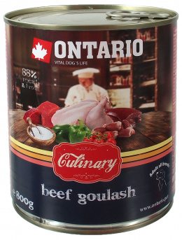 Konservi suņiem - Ontario Culinary Liellopa Gulašs, 800 g