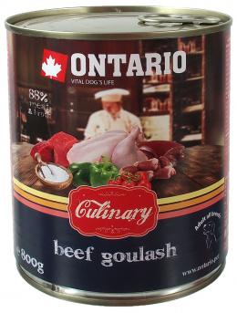 Консервы для собак - Ontario Culinary Beef Goulash, 800 г