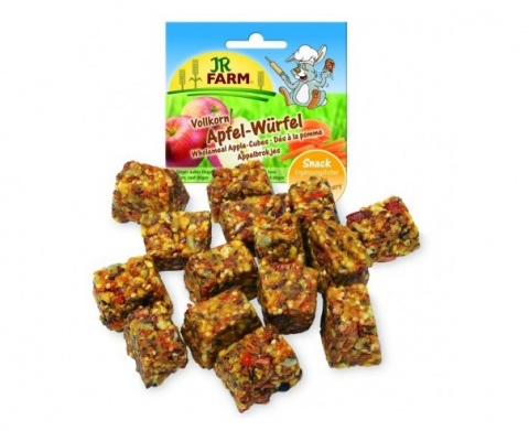 Cepumi grauzējiem - JR FARM Wholemeal Apple Cubes 90 g