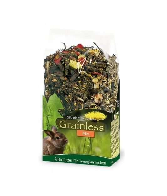 Barība trušiem - JR FARM Grainless Mix Dwarf Rabbit, 650 gr