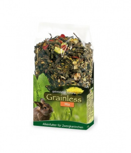 Barība trušiem - JR FARM Grainless Mix Dwarf Rabbit, 650 gr