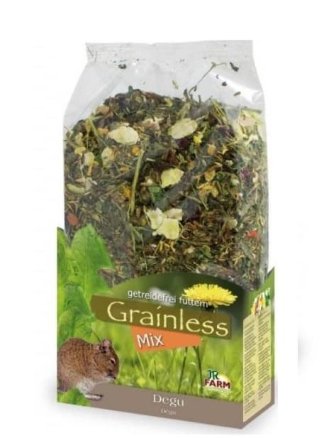 Barība degu - JR Farm Grainless/bezgraudu barība Degu pelēm, 650 g